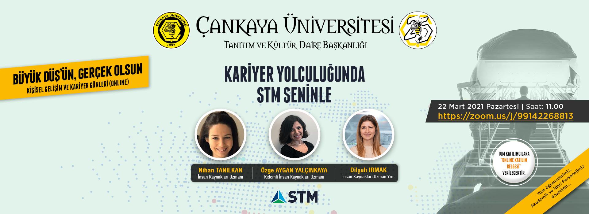 """Kişisel Gelişim ve Kariyer Günleri, """"Kariyer Yolculuğunda STM Seninle"""""""